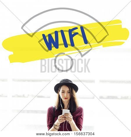 Wifi Digital Device Connection Concept