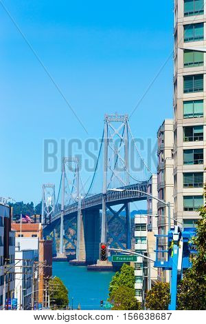 San Francisco Bay Bridge Down Harrison St View V