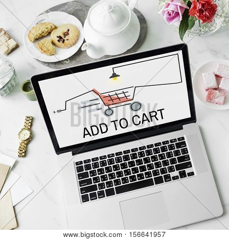Online Shopping Online Payment Concept