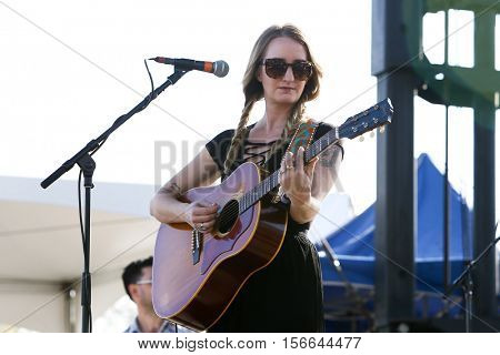 LAKE WALES, FL-NOV 5: Margo Price performs at the CountryFlo Music and Camping Festival on November 5, 2016 in Lake Wales, Florida.