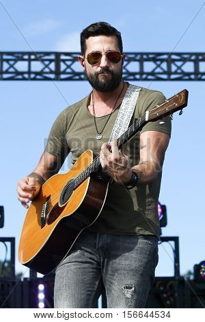 LAKE WALES, FL-NOV 5: Matt Ramsey of Old Dominion performs at the CountryFlo Music and Camping Festival on November 5, 2016 in Lake Wales, Florida.
