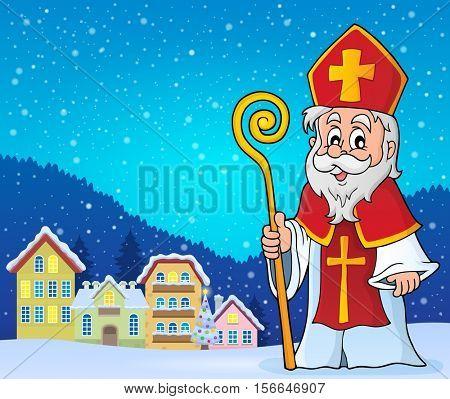 Saint Nicolas theme image 3 - eps10 vector illustration.