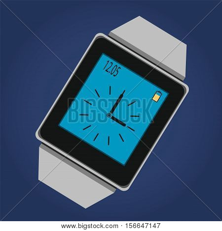 Smart watches. Electronic watch. Vector icon. Stock illustration. EPS10
