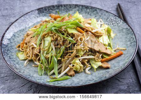 Chicken Yakisoba on Plate
