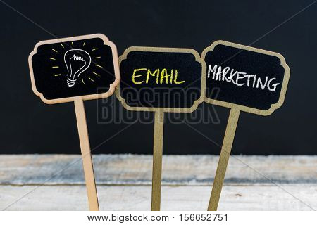 Concept Message Email Marketing And Light Bulb As Symbol For Idea
