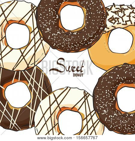 Sweet donuts with chocolate that want to eat