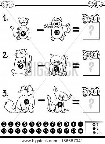 Subtraction Game Coloring Book
