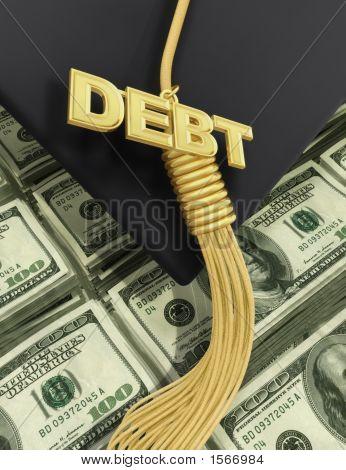 3D College Education Debt Graduation Concept
