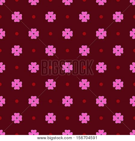 Flowers geometric seamless pattern. Fashion graphic background design. Modern stylish abstract texture. Colorful template for prints textiles wrapping wallpaper website Stock VECTOR illustration