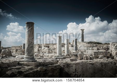 Ruins of ancient Kourion. Limassol District Cyprus.