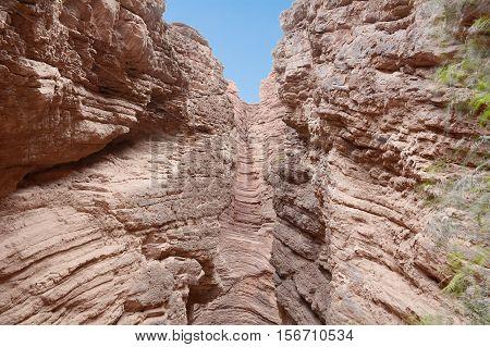 Devil's Throat. Rock formation on Quebrada de las Conchas in Salta province Argentina.