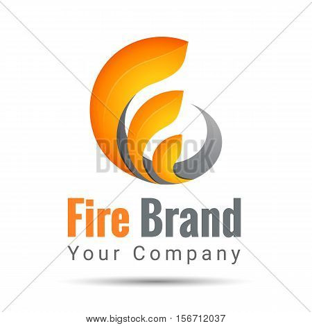 fire volume logo Colorful Vector 3d Volume Logo Design Corporate identity