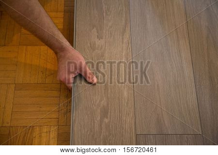 Lay vinyl floor on parquet floor, renovate