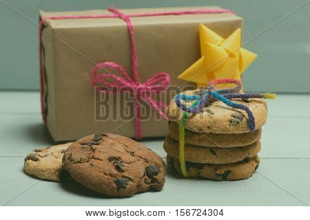 Chocolate Chip Cookies And Gift