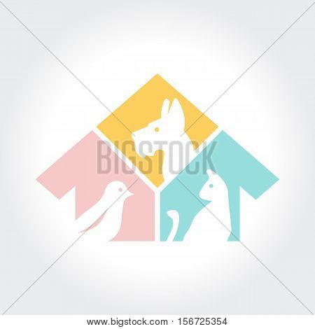 Pet shop logo design, veterinary clinics and homeless animals shelters