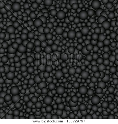 The beautiful simple many black gradient circles texture background