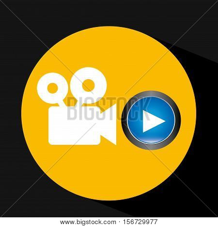 video player button film camera icon graphic vector illustration eps 10
