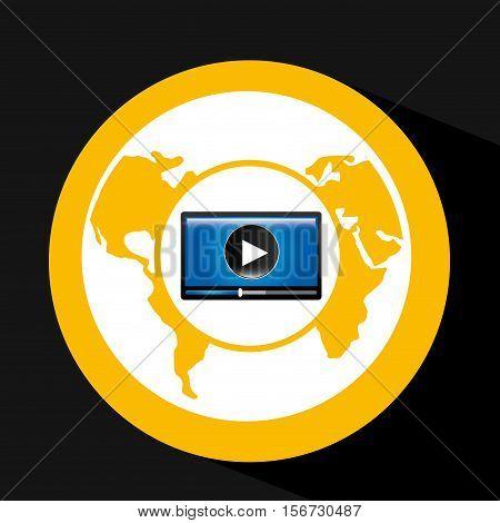 video player globe interface design vector illustration eps 10