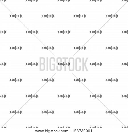 Audio digital equalizer pattern. Simple illustration of audio digital equalizer vector pattern for web
