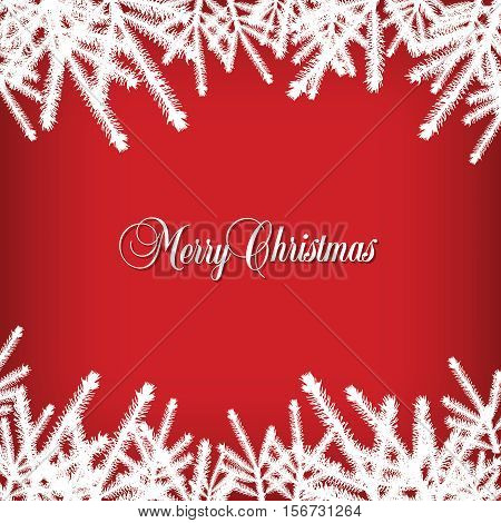 Classic  Christmas background with pine needles for Print or Web
