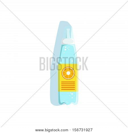 Hydrating Water Sports Orange Drink In Plastic Bottle Vector Illustration From The Fitness Essentials Collection. Object Related To Sportive Workout And Healthy Lifestyle Isolated Icon.