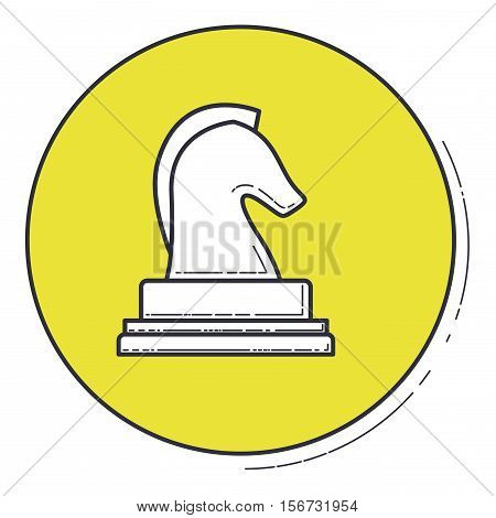 Chess horse icon. Game strategy competition leisure and hobby theme. Vector illustration
