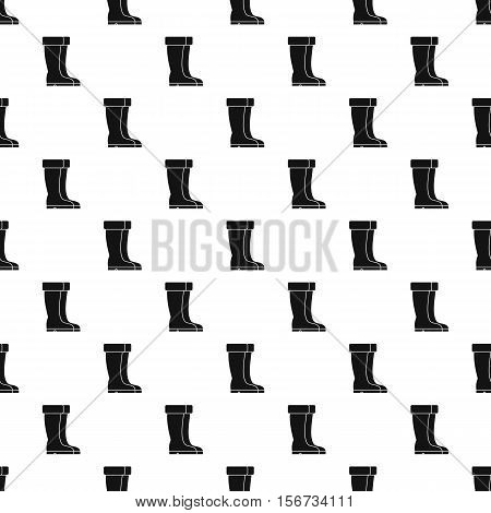 Winter shoes pattern. Simple illustration of winter shoes vector pattern for web