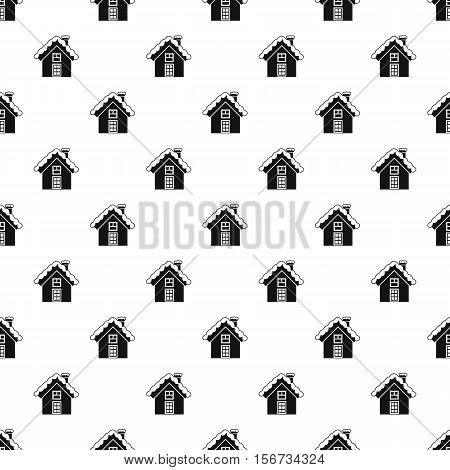 Snowy cottage pattern. Simple illustration of snowy cottage vector pattern for web