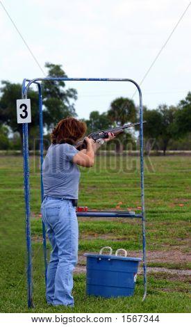 Female Skeet Trap Shooter