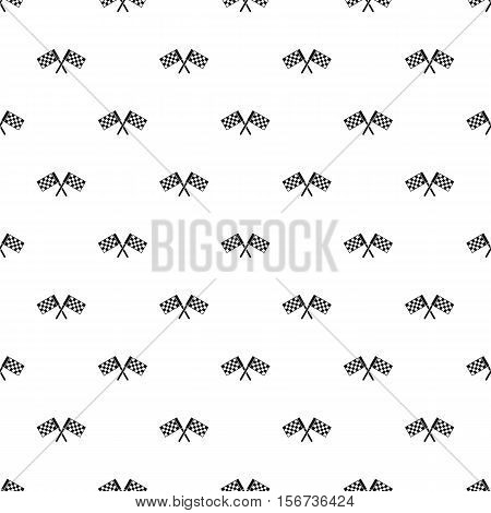 Crossed chequered flags pattern. Simple illustration of crossed chequered flags vector pattern for web