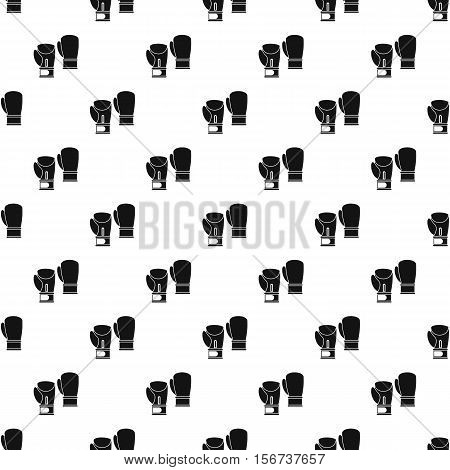 Boxing gloves pattern. Simple illustration of boxing gloves vector pattern for web