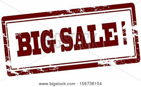 Rubber stamp with text big sale inside vector illustration