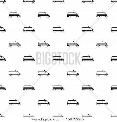 Ambulance car pattern. Simple illustration of ambulance car vector pattern for web