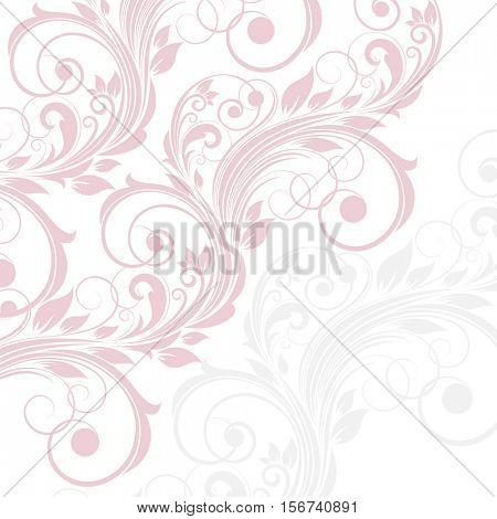 Vintage floral background.