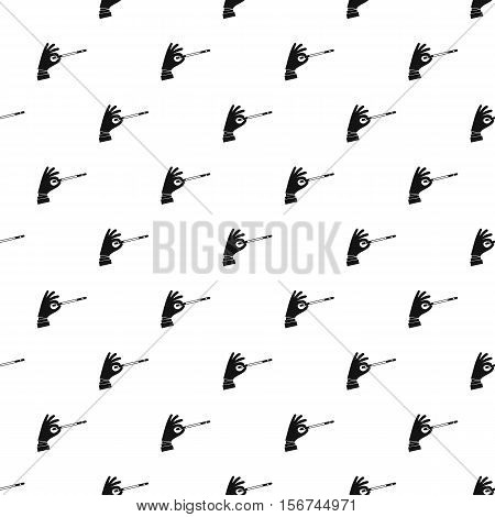 Magician hand pattern. Simple illustration of magician hand vector pattern for web