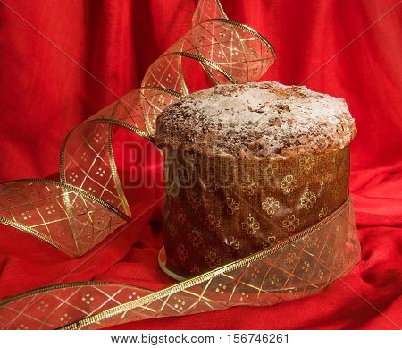 Traditional Homemade Panettone For Christmas And New Year.