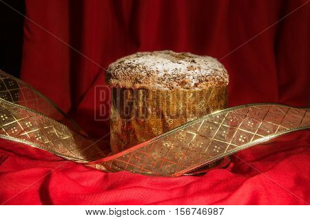 Freshly Baked Spicy Homemade Panettone For Christmas And New Year.
