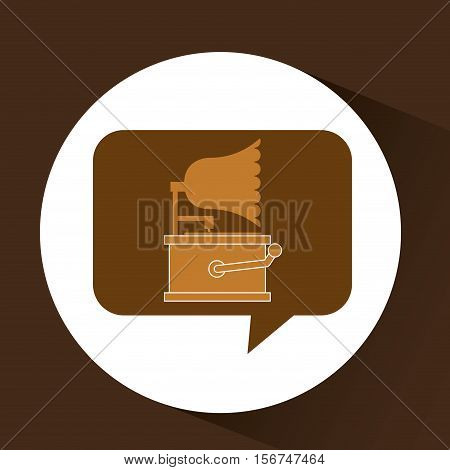 gramophone vintage symbol icon vector illustration eps 10