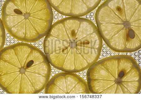 lemon fruit Close up as background makro