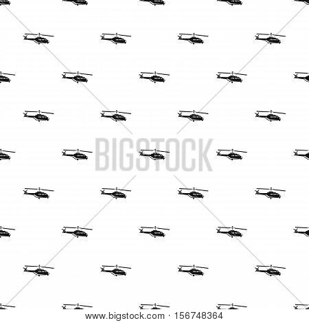 Helicopter pattern. Simple illustration of helicopter vector pattern for web