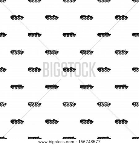 Armoured troop carrier wheeled pattern. Simple illustration of armoured troop carrier wheeled vector pattern for web