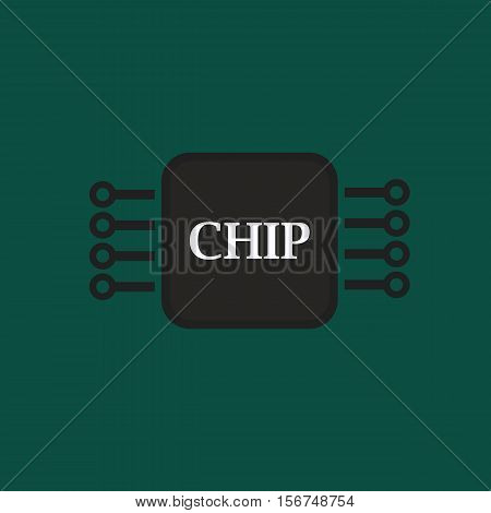 Electronic Chip, Abstract Vector Design By Esp10