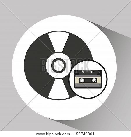 cassette vynil disk retro vector illustration eps 10