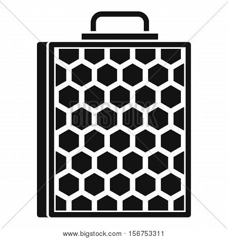 Honeycomb icon. Simple illustration of honeycomb vector icon for web