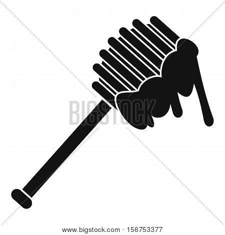 Honey spoon icon. Simple illustration of honey spoon vector icon for web