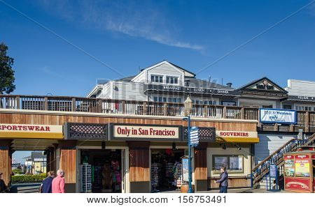 Pier 39 Is A Popular Touristic Place For Shopping