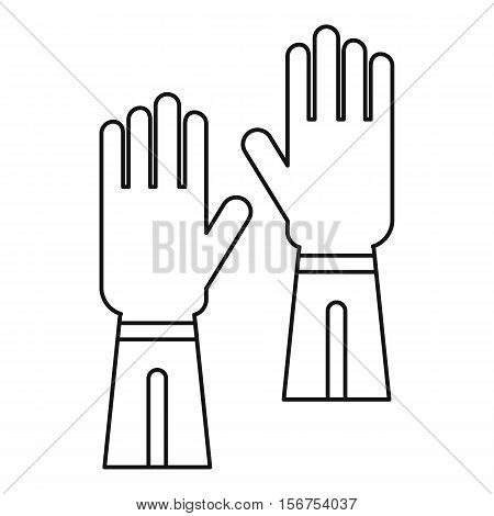 Gloves icon. Outline illustration of gloves vector icon for web