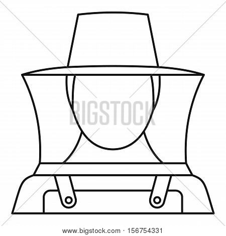 Beekeeper icon. Outline illustration of beekeeper vector icon for web