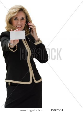 Business White Card