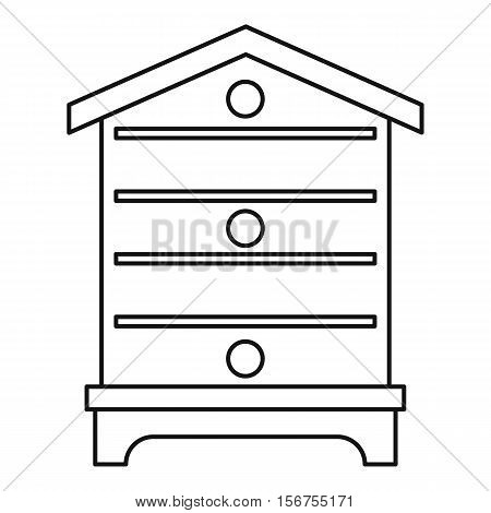 Hive icon. Outline illustration of hive vector icon for web